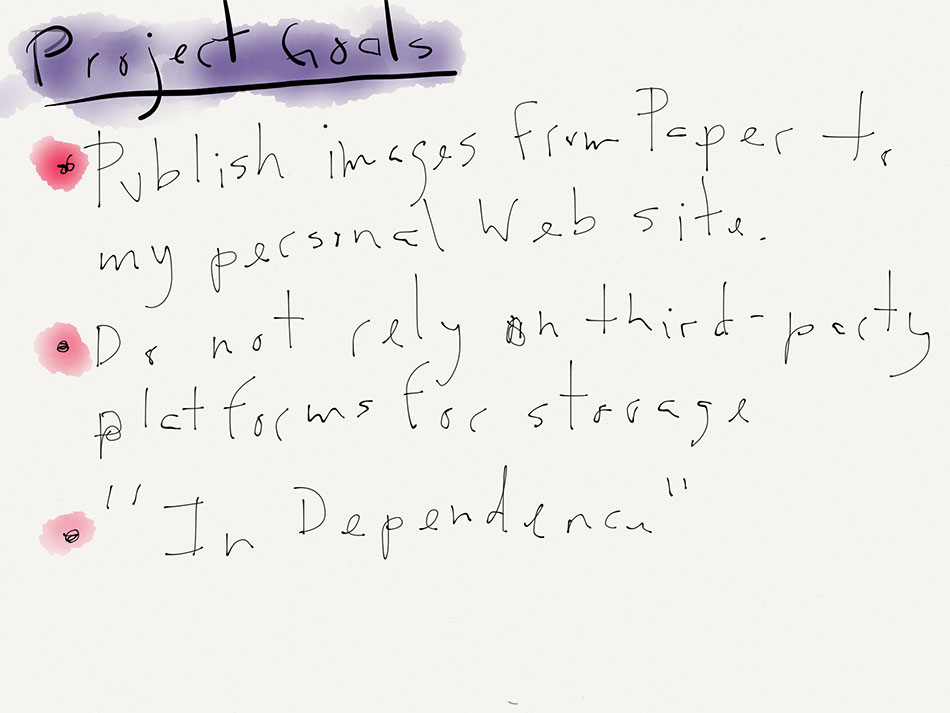 Papersaver notes taken in the Paper App