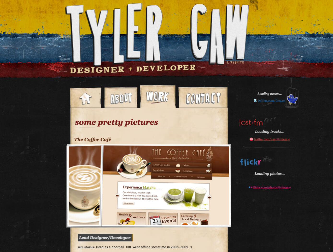 A screenshot of version 3 of tylergaw.com